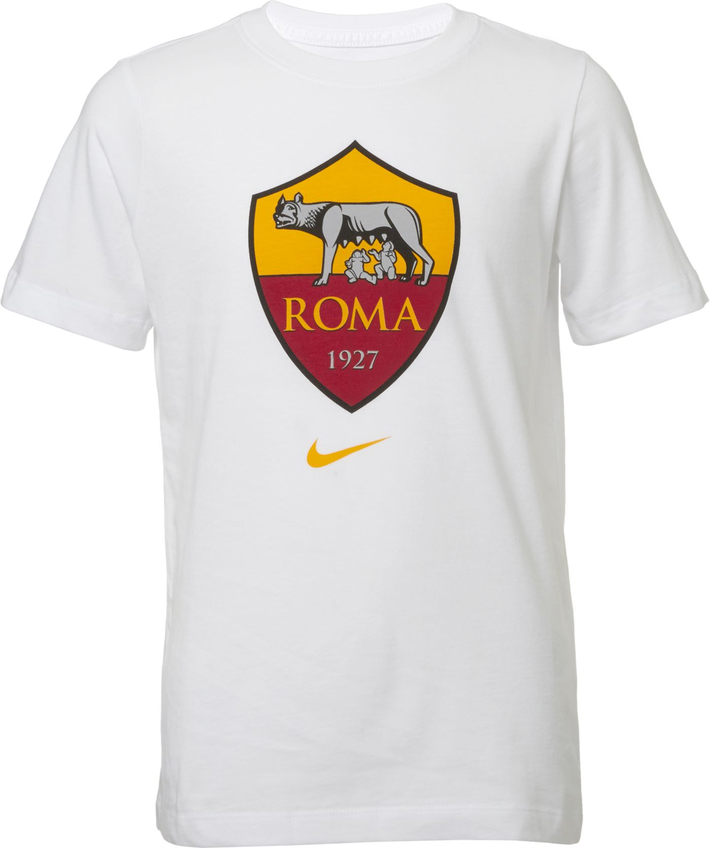 Nike Youth AS Roma '19 Crest White T-Shirt