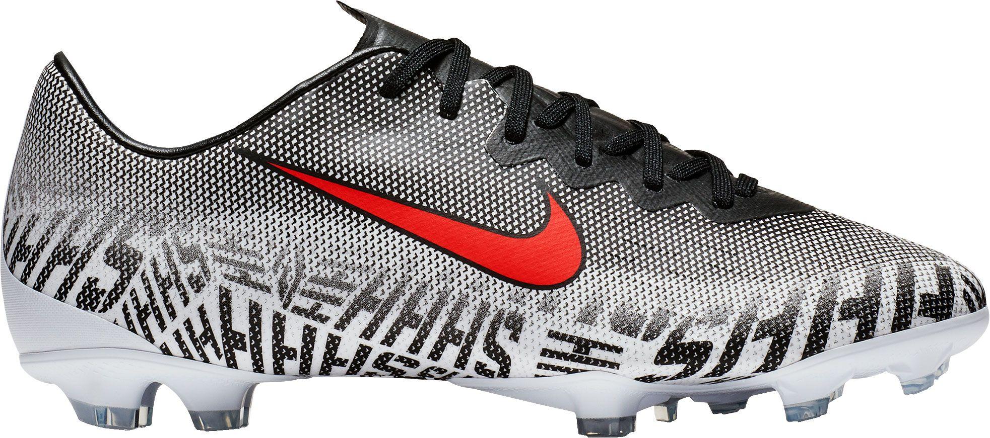 Nike Kids' Mercurial Neymar Vapor 12 Elite FG Soccer Cleats, Boy's, Size: 5.0, White