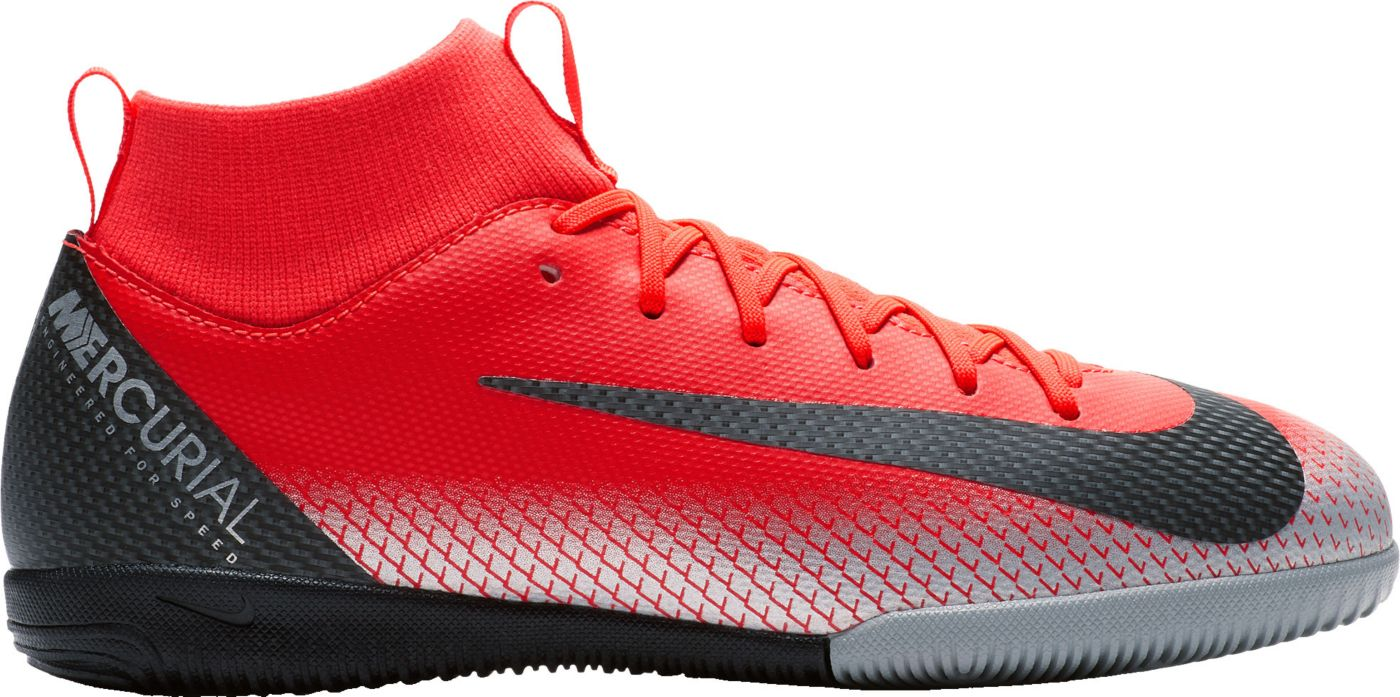Nike Kids' MercurialX Superfly 6 Academy CR7 Indoor Soccer Shoes