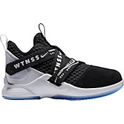 64feb8d00f854 Product Image · Nike Kids  Preschool LeBron Soldier XII Basketball Shoes in  Black White