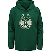 Outerstuff Youth Milwaukee Bucks Green Pullover Hoodie