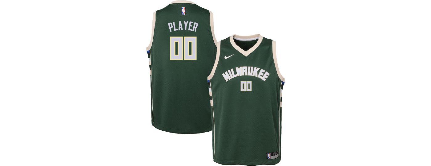Nike Youth Full Roster Milwaukee Bucks Green Dri-FIT Swingman Jersey
