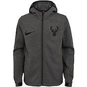 Nike Youth Milwaukee Bucks On-Court Dri-FIT Showtime Full-Zip Hoodie
