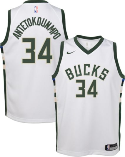 Nike Youth Milwaukee Bucks Giannis Antetokounmpo  34 White Dri-FIT Swingman  Jersey. noImageFound 3068e6507