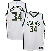 Nike Youth Milwaukee Bucks Giannis Antetokounmpo #34 White Dri-FIT Swingman Jersey