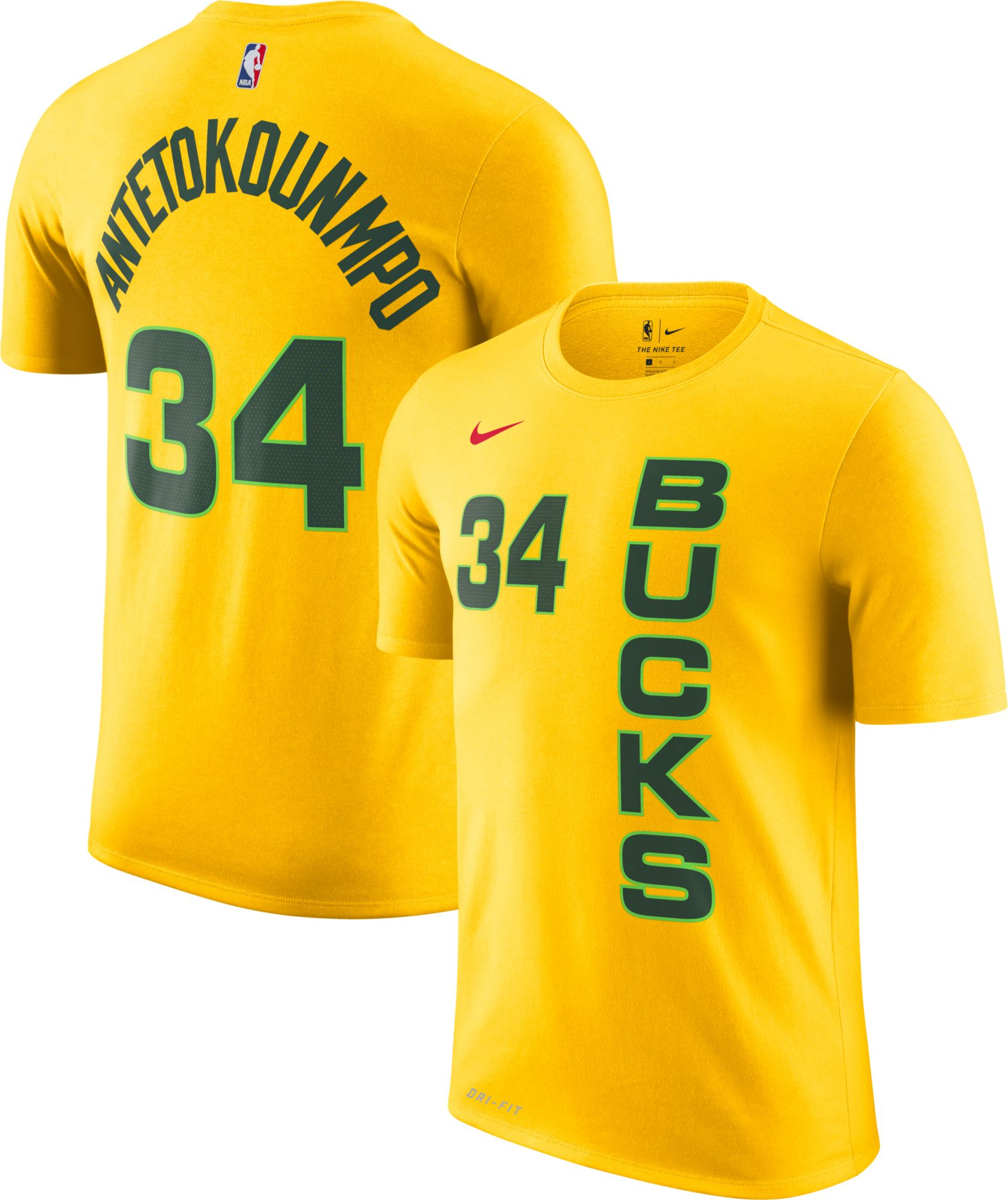 Nike Youth Milwaukee Bucks Giannis Antetokounmpo Dri-FIT City Edition T- Shirt 18f04e5ef