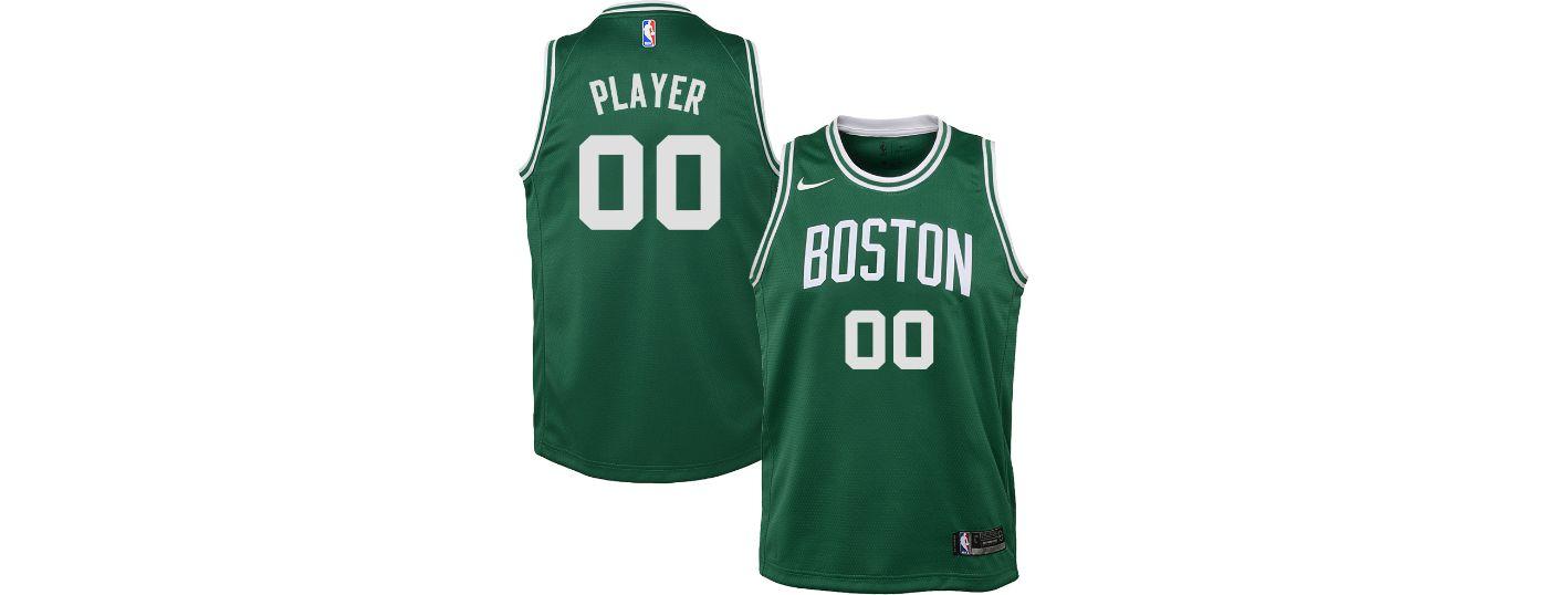 Nike Youth Full Roster Boston Celtics Kelly Green Dri-FIT Swingman Jersey