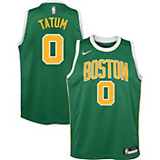 Nike Youth Boston Celtics Jayson Tatum Dri-FIT Earned Edition Swingman Jersey