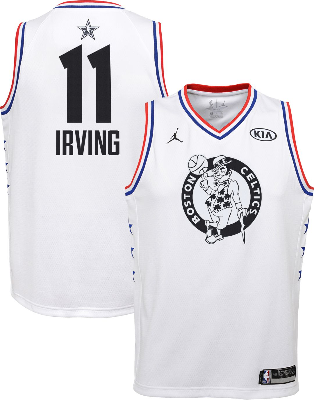 5a8d88f46 Jordan Youth 2019 NBA All-Star Game Kyrie Irving White Dri-FIT Swingman  Jersey