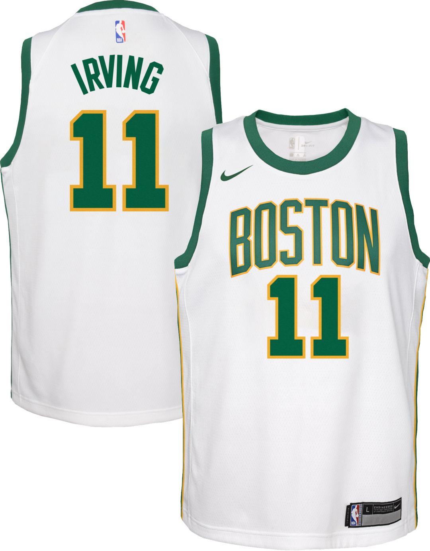 50e8b5688c1 Nike Youth Boston Celtics Kyrie Irving Dri-FIT City Edition Swingman Jersey  1
