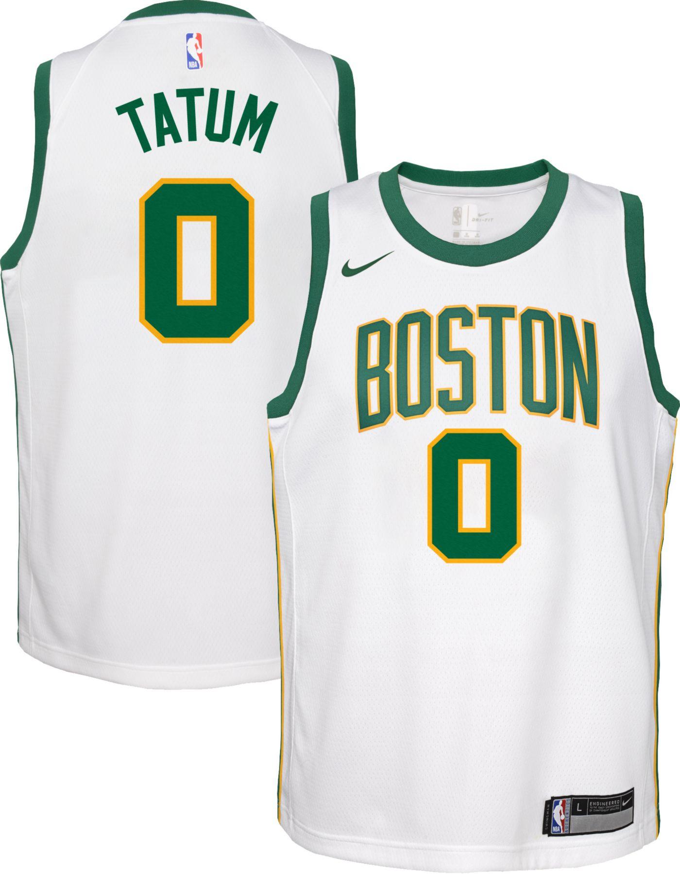 Nike Youth Boston Celtics Jayson Tatum Dri-FIT City Edition Swingman Jersey