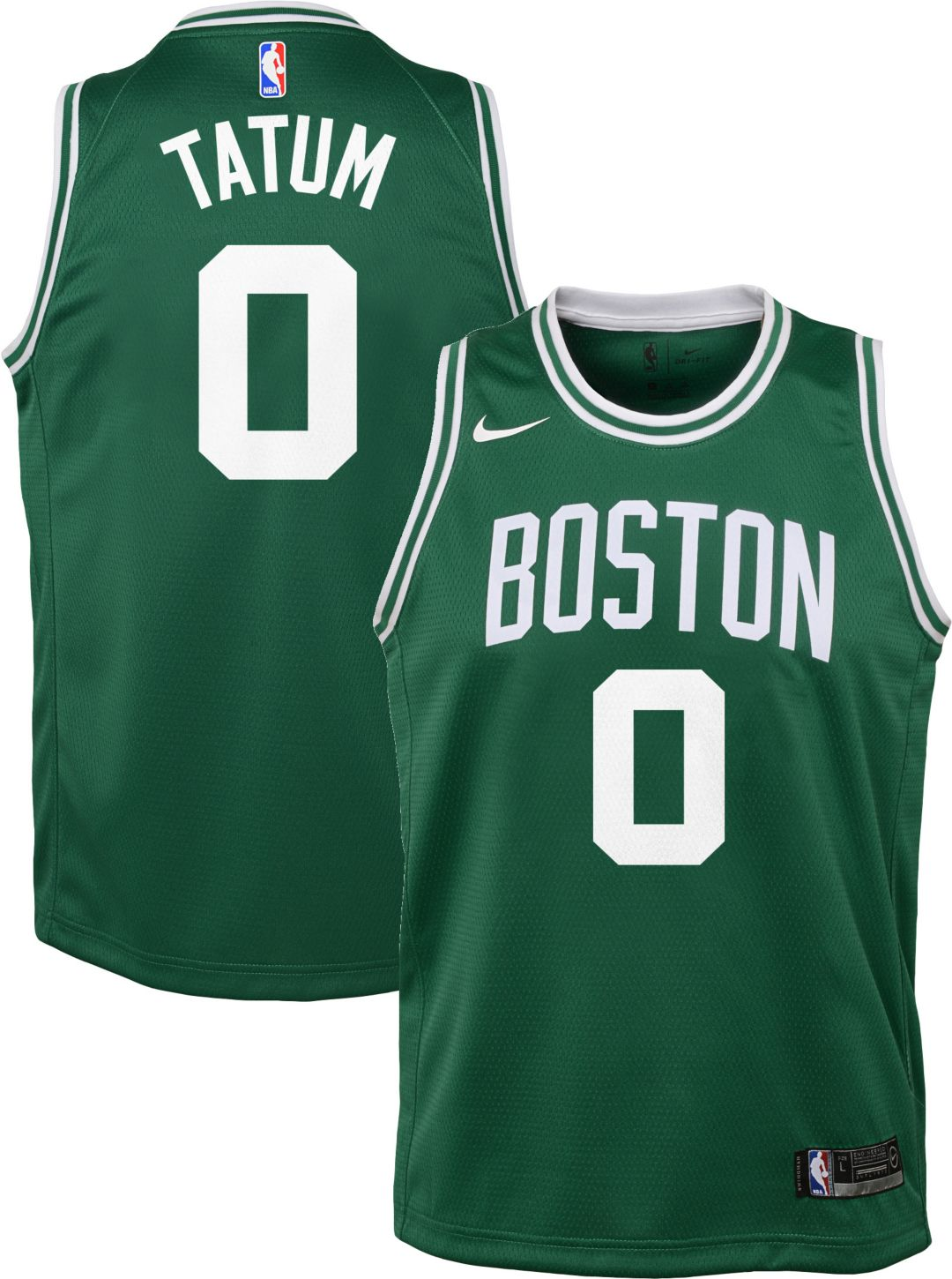 detailed look b3a4f 4f545 Nike Youth Boston Celtics Jayson Tatum #0 Kelly Green Dri-FIT Swingman  Jersey