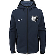 Nike Youth Memphis Grizzlies On-Court Dri-FIT Showtime Full-Zip Hoodie