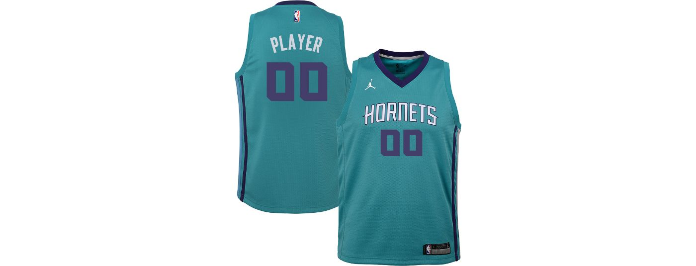 Jordan Youth Full Roster Charlotte Hornets Teal Dri-FIT Swingman Jersey