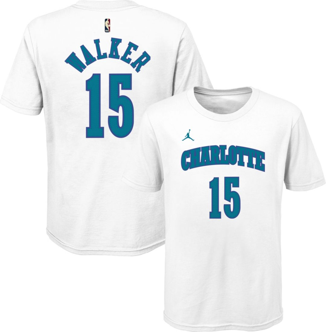 new york ecc29 8af81 Jordan Youth Charlotte Hornets Kemba Walker Dri-FIT Hardwood Classic T-Shirt