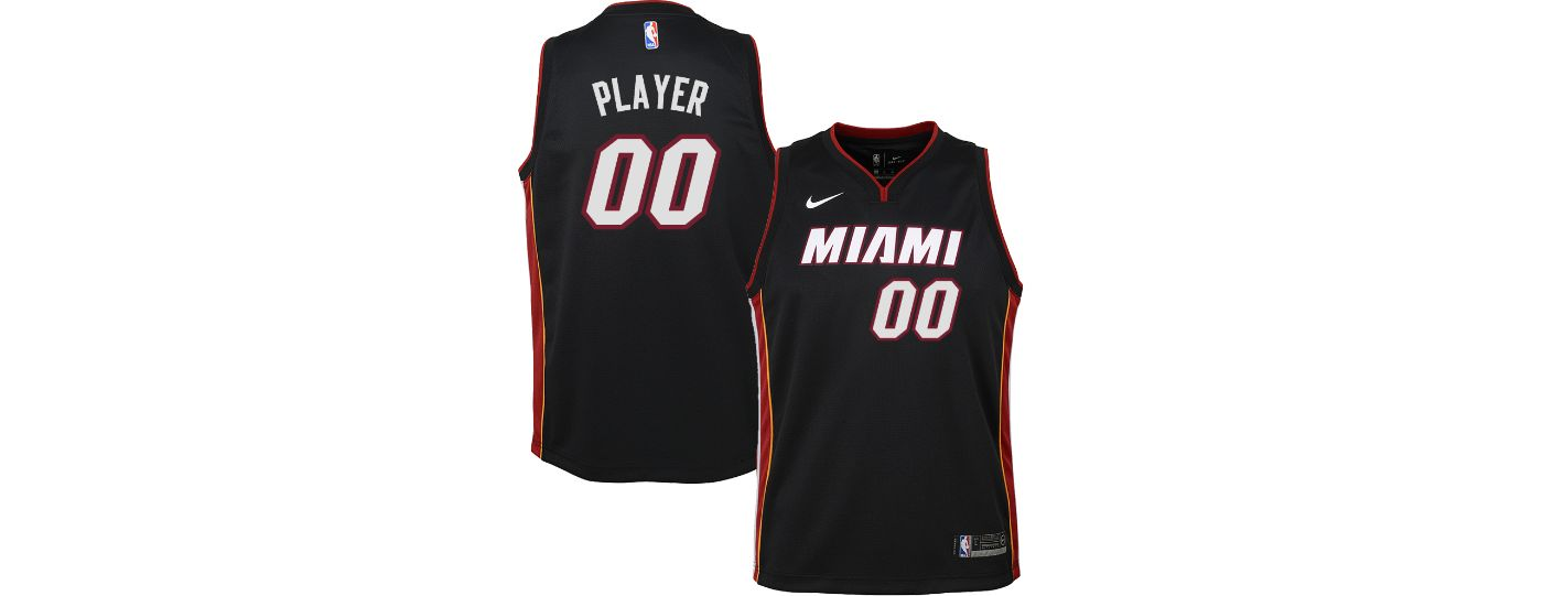 Nike Youth Full Roster Miami Heat Black Dri-FIT Swingman Jersey