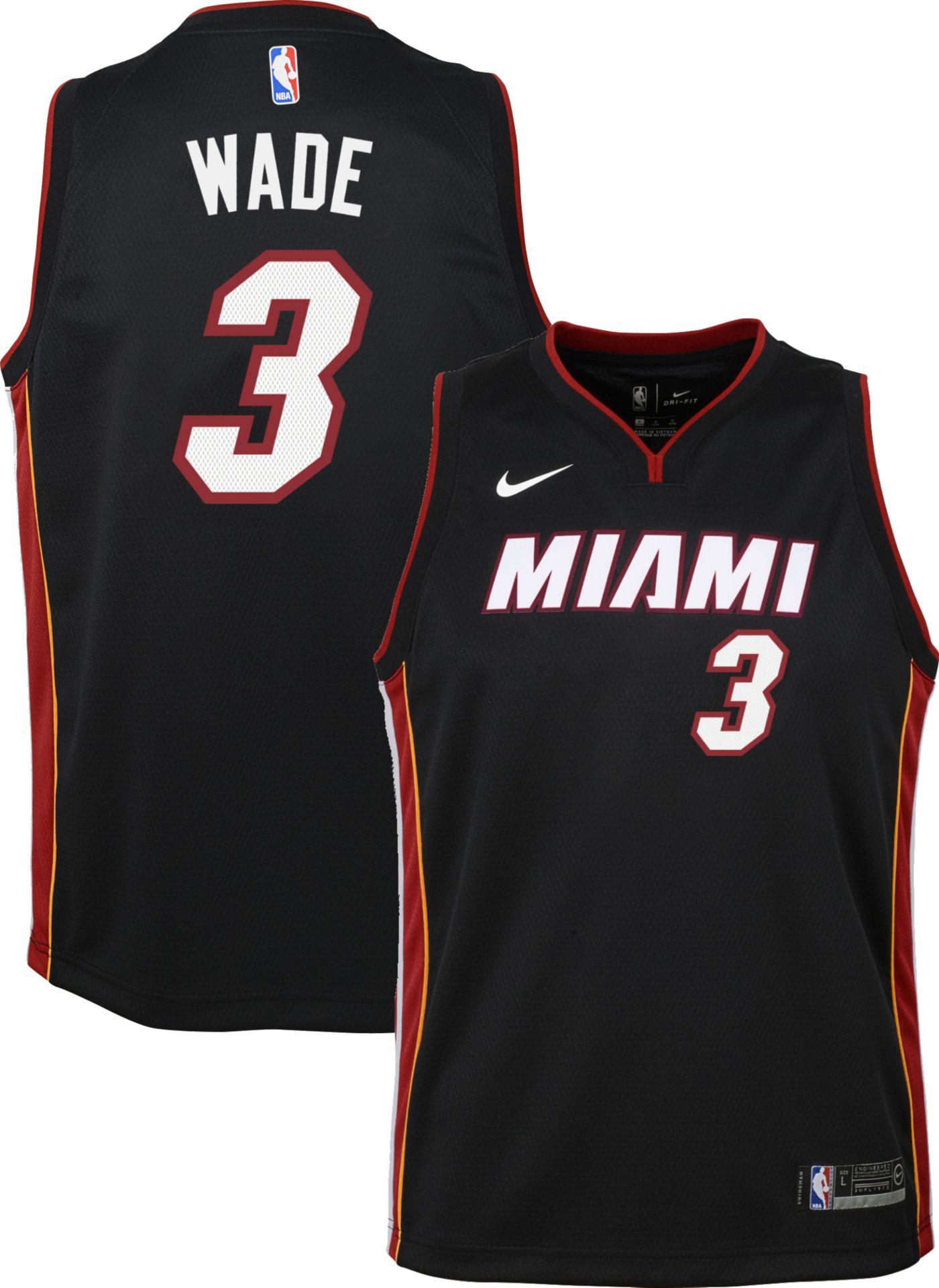 Nike Youth Miami Heat Dwyane Wade #3 Black Dri-FIT Swingman Jersey
