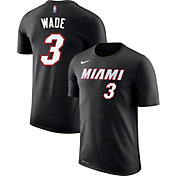 Nike Youth Miami Heat Dwyane Wade #3 Dri-FIT Black T-Shirt