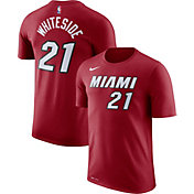 Nike Youth Miami Heat Hassan Whiteside #21 Dri-FIT Red T-Shirt
