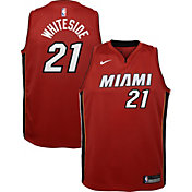 Nike Youth Miami Heat Hassan Whiteside #21 Red Dri-FIT Swingman Jersey