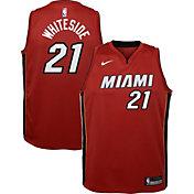 Nike Youth Miami Heat Hassan Whiteside #21 Red Dri-FIT Statement Swingman Jersey