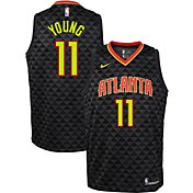 Nike Youth Atlanta Hawks Trae Young #11 Black Dri-FIT Swingman Jersey