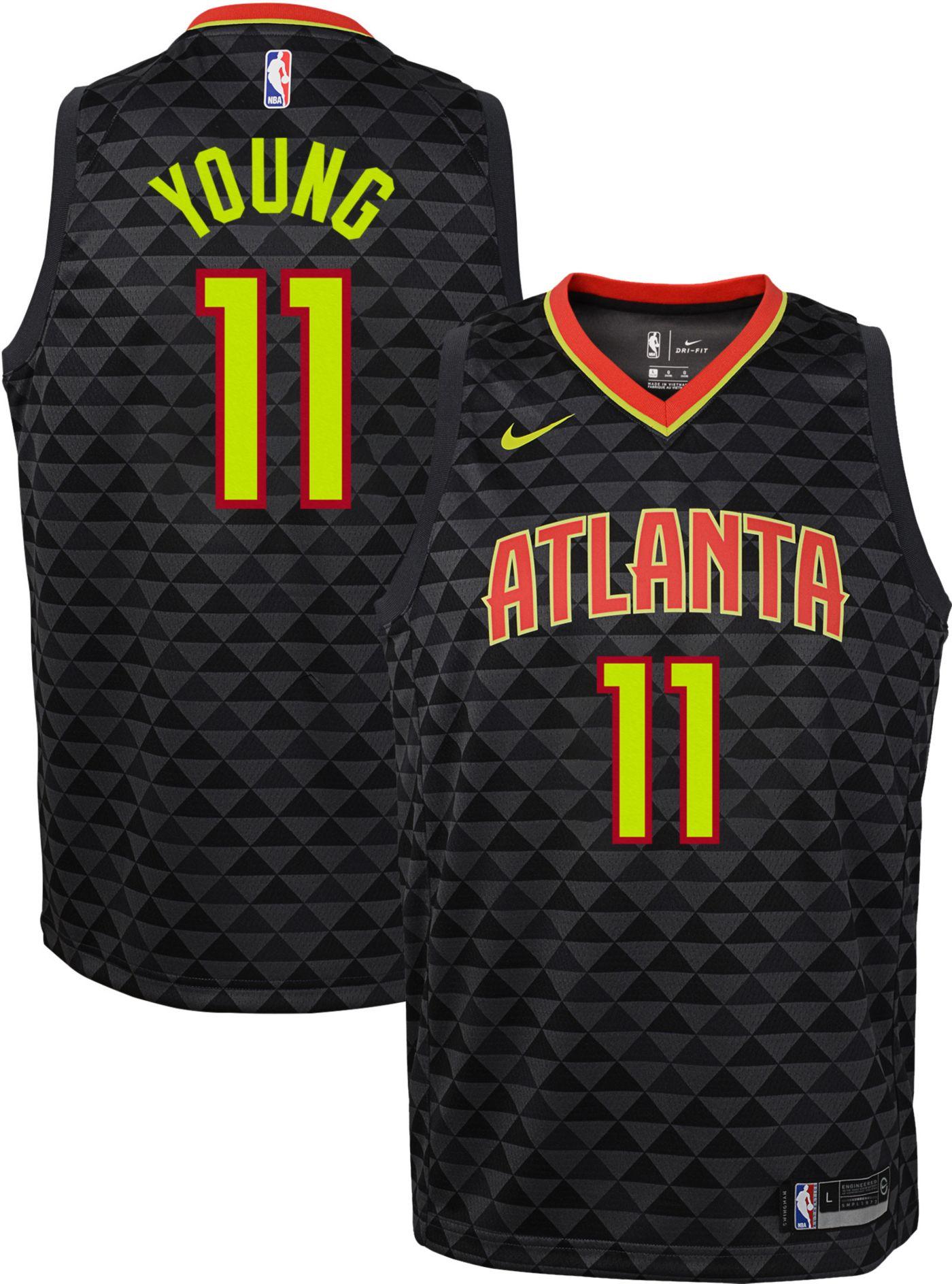 Nike Youth Atlanta Hawks Trae Young #11 Black Dri-FIT Swingman Jersey