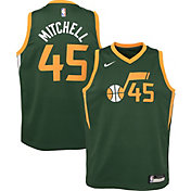 Nike Youth Utah Jazz Donovan Mitchell Dri-FIT Earned Edition Swingman Jersey