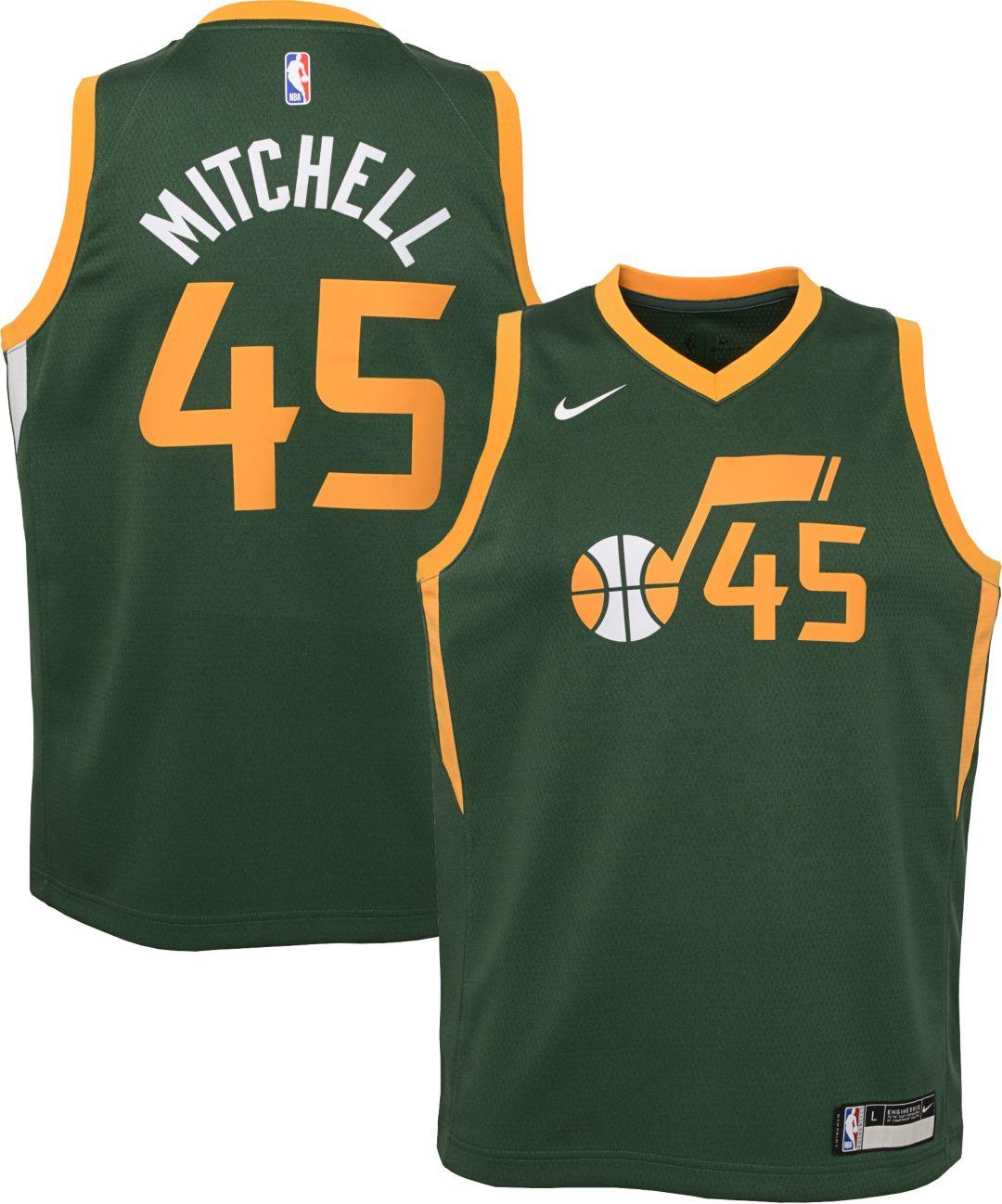best website 77b07 314f1 Nike Youth Utah Jazz Donovan Mitchell Dri-FIT Earned Edition Swingman Jersey
