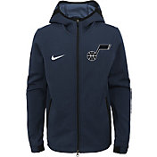 Nike Youth Utah Jazz On-Court Dri-FIT Showtime Full-Zip Hoodie