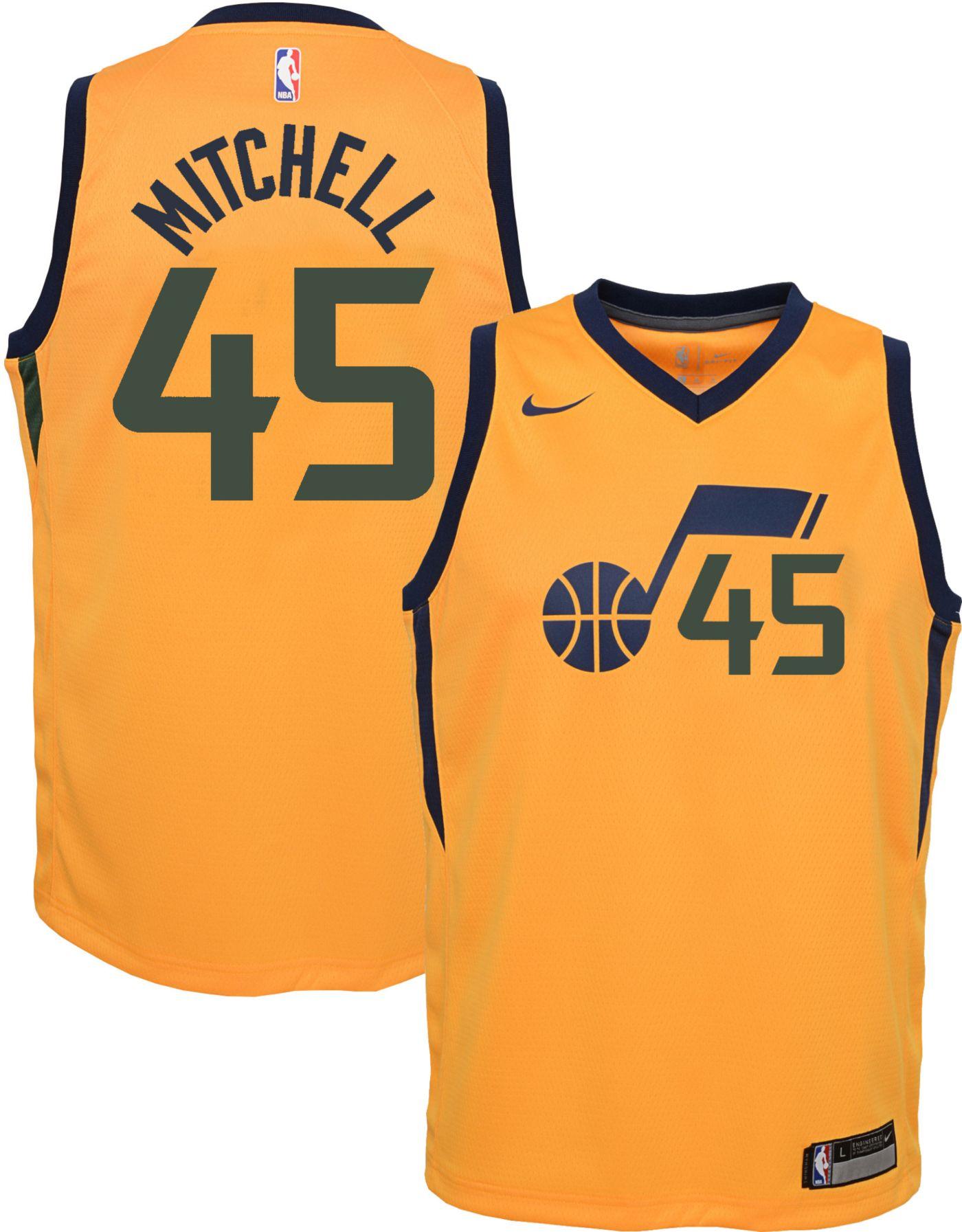Nike Youth Utah Jazz Donovan Mitchell #45 Gold Dri-FIT Statement Swingman Jersey