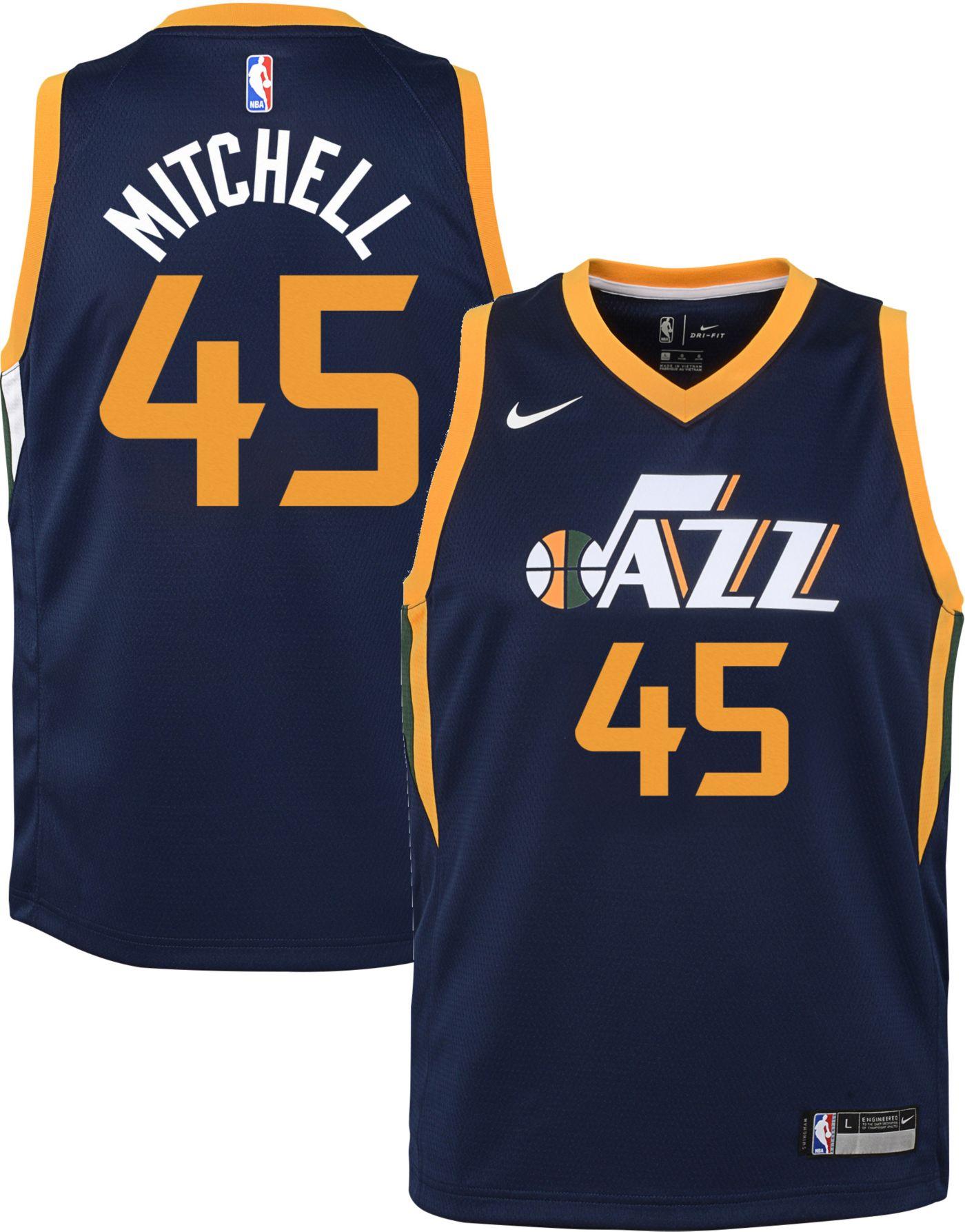 Nike Youth Utah Jazz Donovan Mitchell #45 Navy Dri-FIT Swingman Jersey