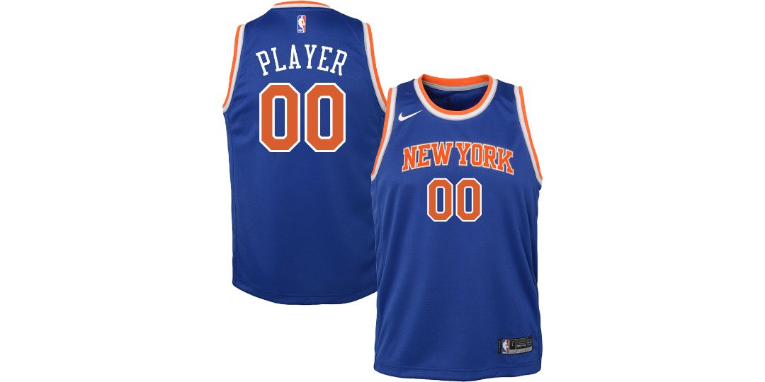 02c814d37cd Nike Youth Full Roster New York Knicks Royal Dri-FIT Swingman Jersey ...
