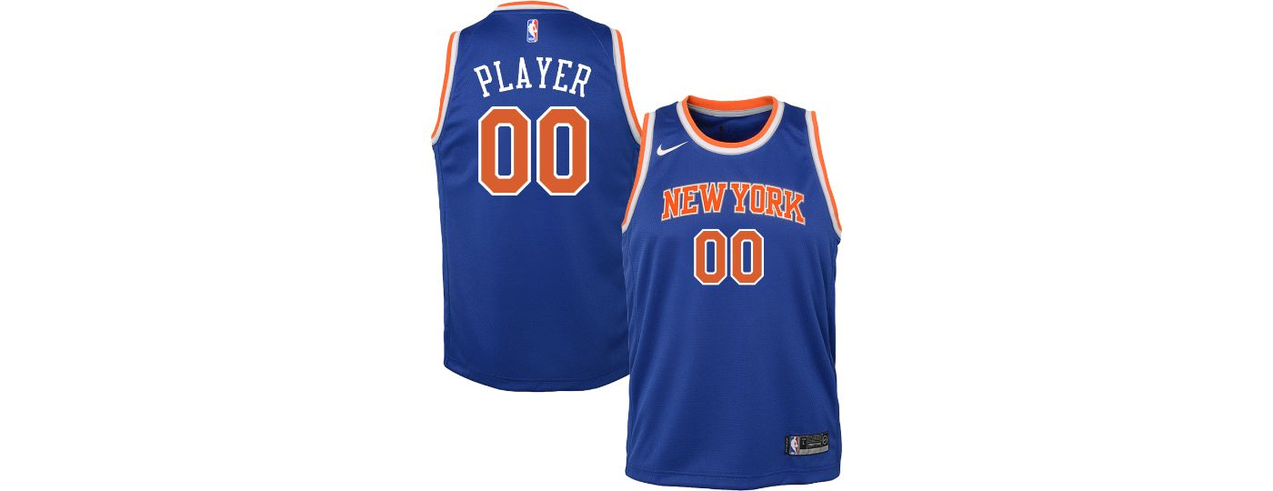 Nike Youth Full Roster New York Knicks Royal Dri-FIT Swingman Jersey