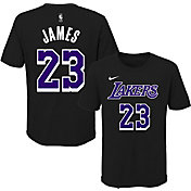 Nike Youth Los Angeles Lakers LeBron James Dri-FIT Black T-Shirt