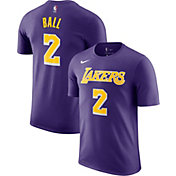 Nike Men's Los Angeles Lakers Lonzo Ball #2 Dri-FIT Purple T-Shirt
