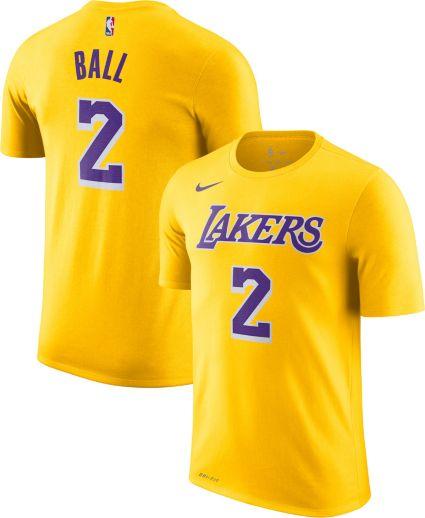 Nike Youth Los Angeles Lakers Lonzo Ball  2 Dri-FIT Gold T-Shirt ... aa2008b85