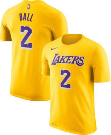 86b55504 Nike Youth Los Angeles Lakers Lonzo Ball #2 Dri-FIT Gold T-Shirt