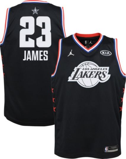 Jordan Youth 2019 NBA All-Star Game LeBron James Black Dri-FIT Swingman  Jersey. noImageFound 9343a99d6