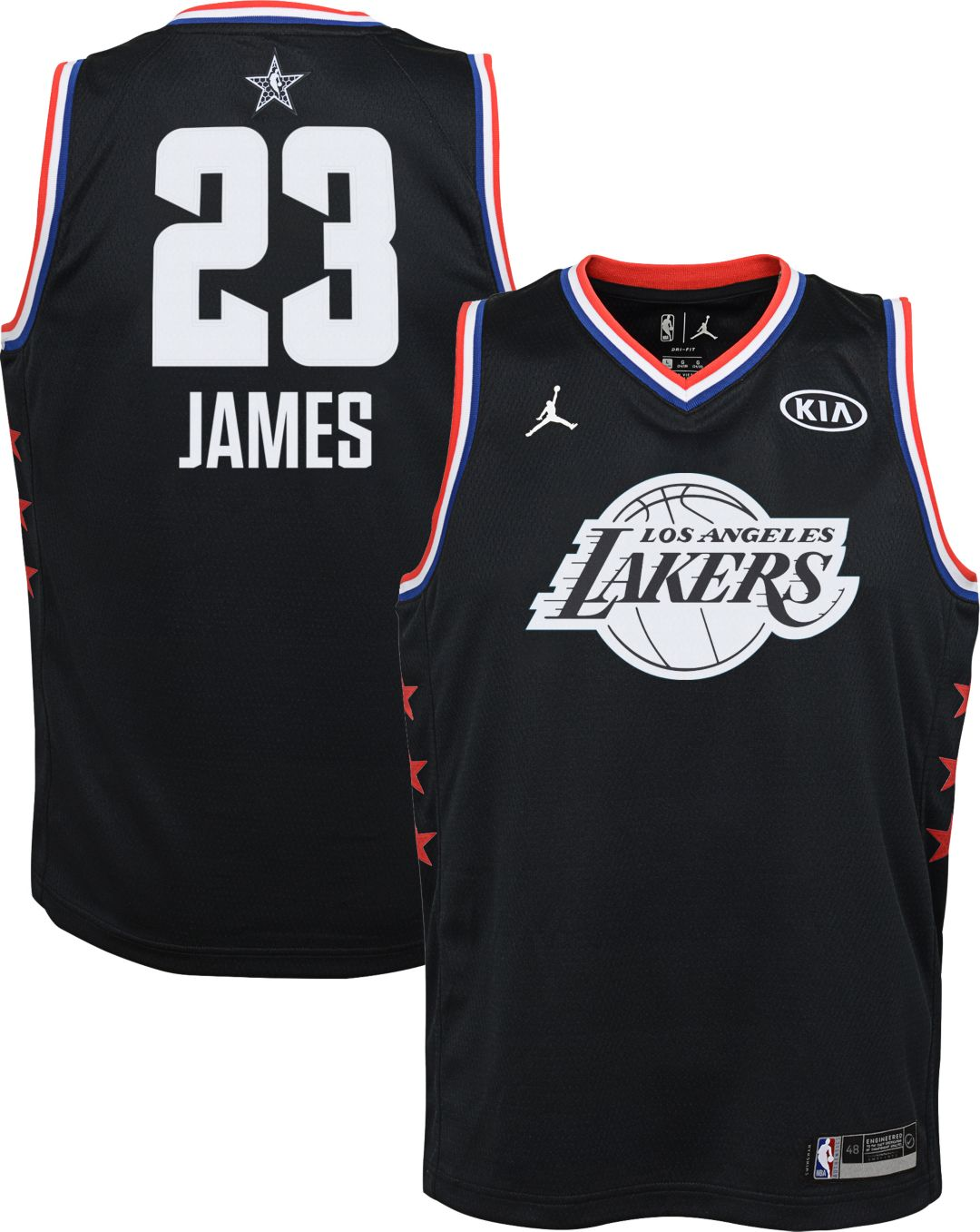 ab10dff0ceb Jordan Youth 2019 NBA All-Star Game LeBron James Black Dri-FIT Swingman  Jersey