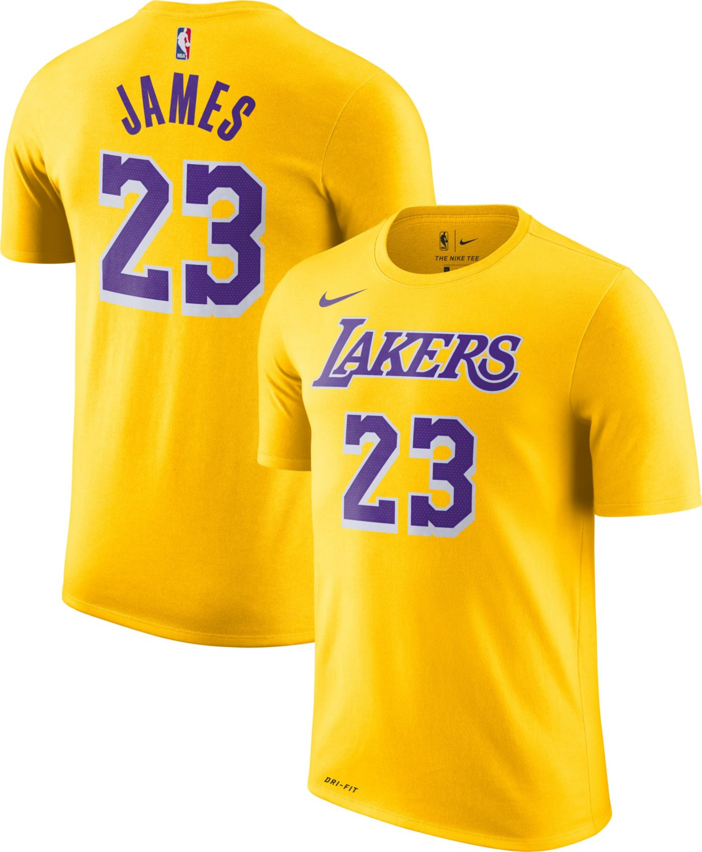 Nike Youth Los Angeles Lakers LeBron James Dri-FIT Gold T-Shirt