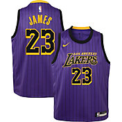 Nike Youth Los Angeles Lakers LeBron James Dri-FIT Purple City Edition Swingman Jersey