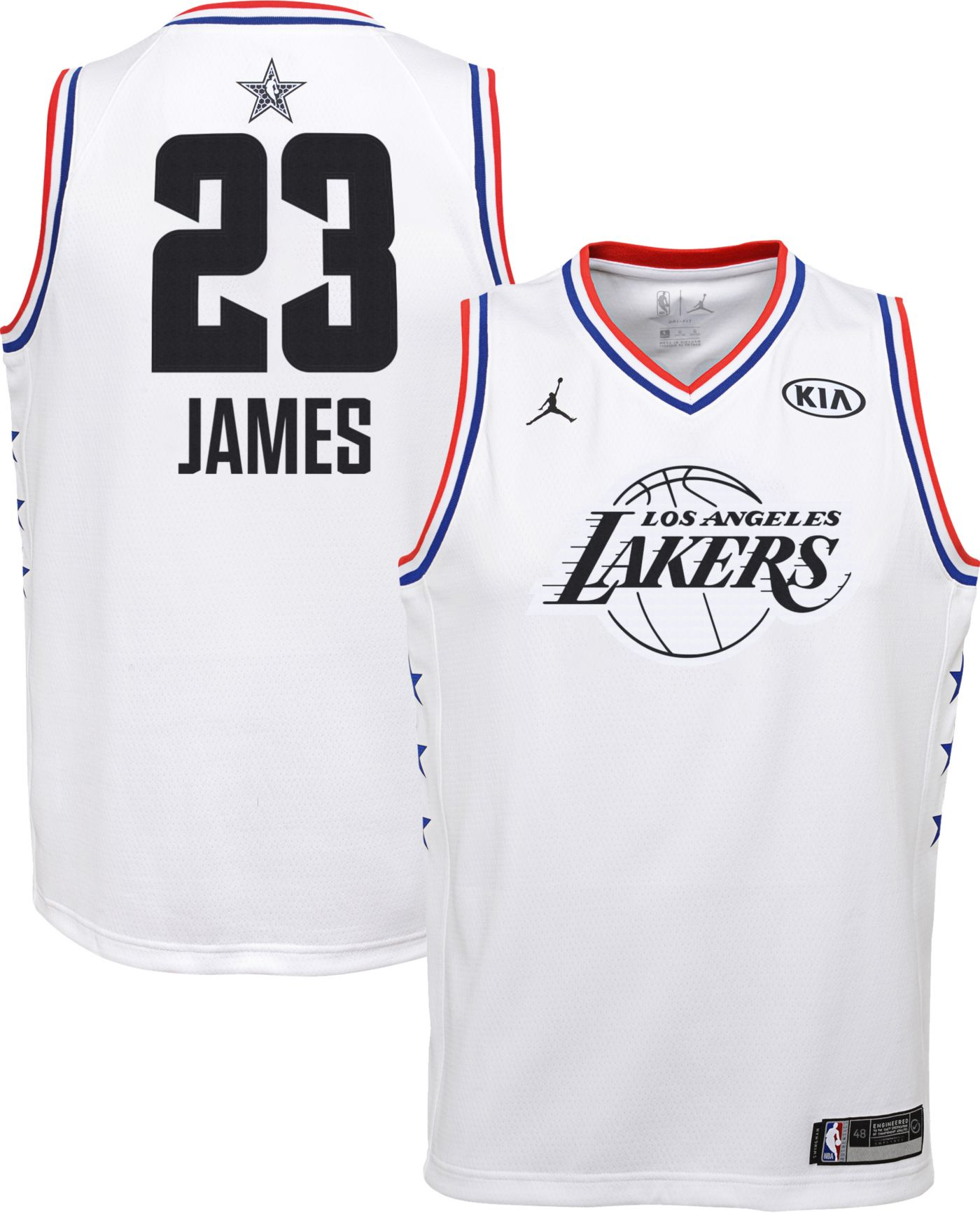 Jordan Youth 2019 NBA All-Star Game LeBron James White Dri-FIT Swingman Jersey
