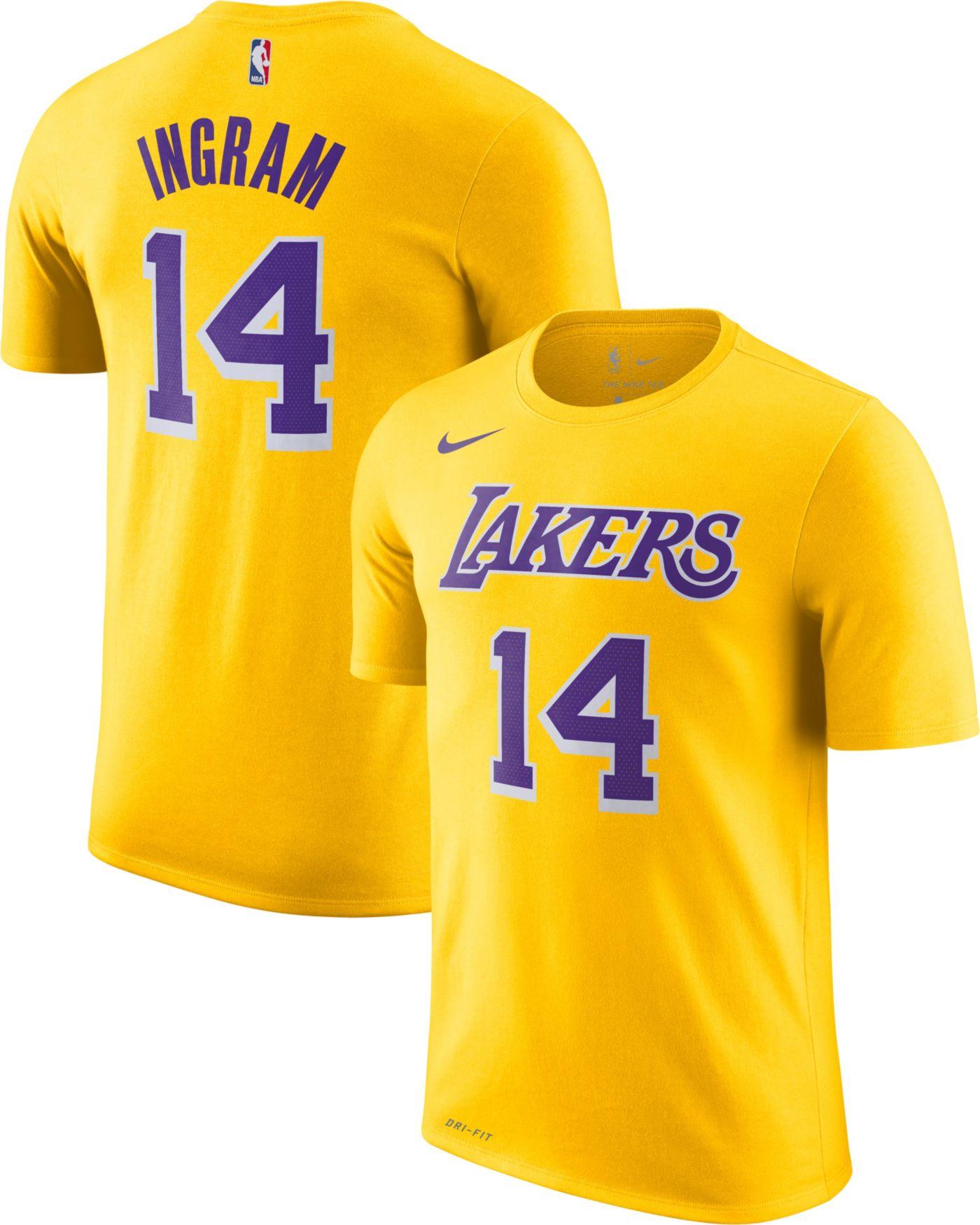 Nike Youth Los Angeles Lakers Brandon Ingram #14 Dri-FIT Gold T-Shirt