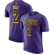 8c8cceec7a3 Nike Youth Los Angeles Lakers Lonzo Ball Dri-FIT City Edition T-Shirt