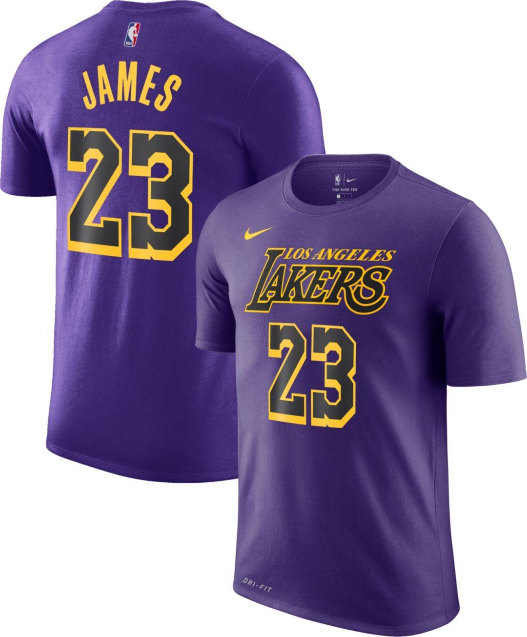 e0f06d13d26 Nike Youth Los Angeles Lakers LeBron James Dri-FIT City Edition T-Shirt 1