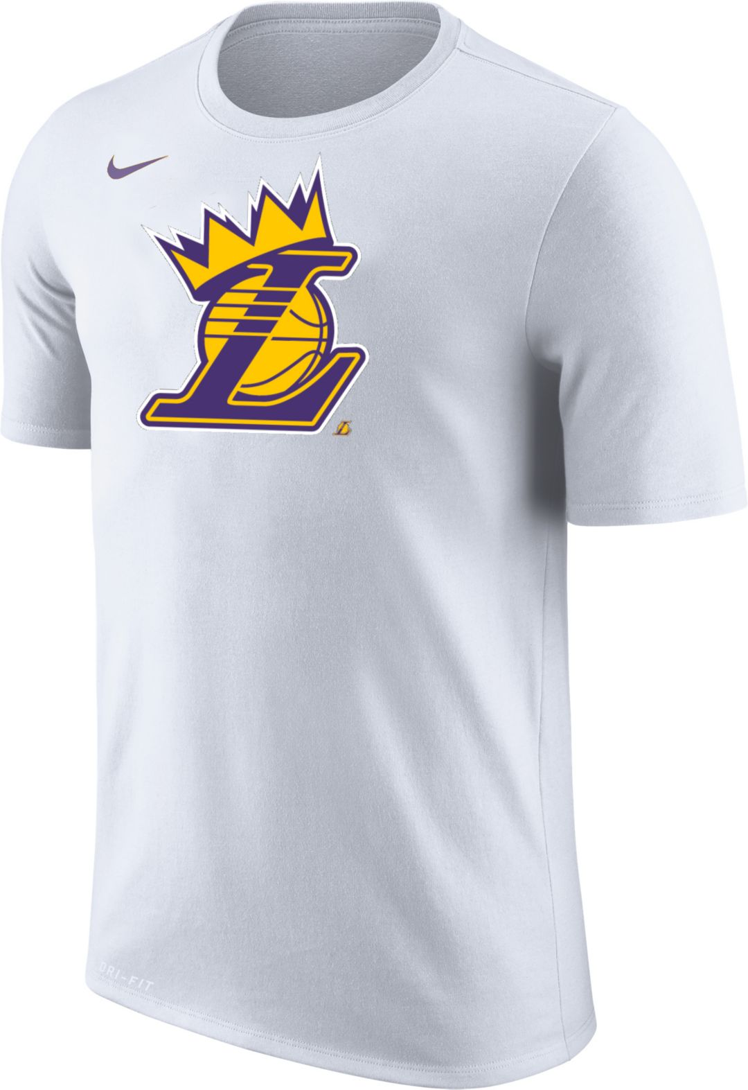 """cheap for discount 07683 1c369 Nike Youth Los Angeles Lakers """"King Is Crowned"""" White T-Shirt"""