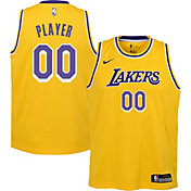 Nike Youth Full Roster Los Angeles Lakers Gold Dri-FIT Swingman Jersey