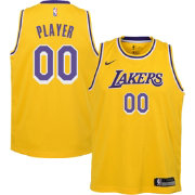 617f4055a57 Nike Youth Full Roster Los Angeles Lakers Gold Dri-FIT Swingman Jersey