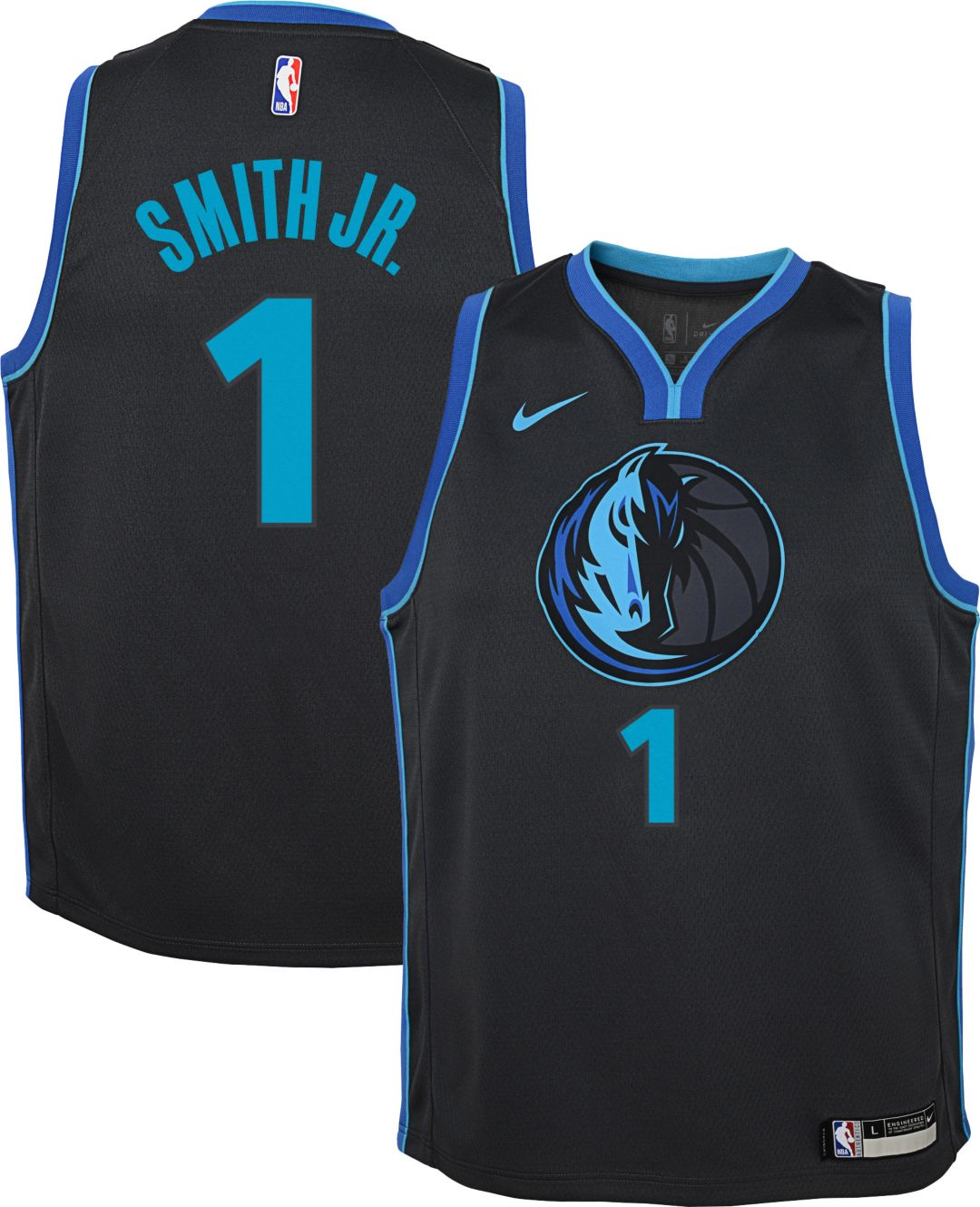 buy online b91ce e2b45 Nike Youth Dallas Mavericks Dennis Smith Jr. Dri-FIT City Edition Swingman  Jersey
